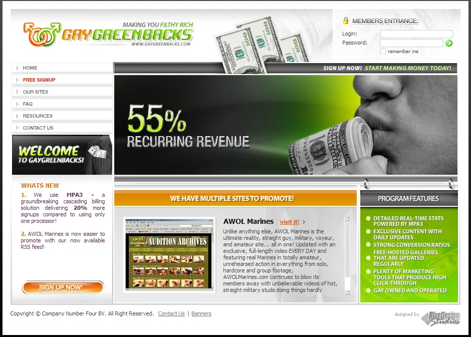gay greenbacks Gay Green Backs Affiliate Review